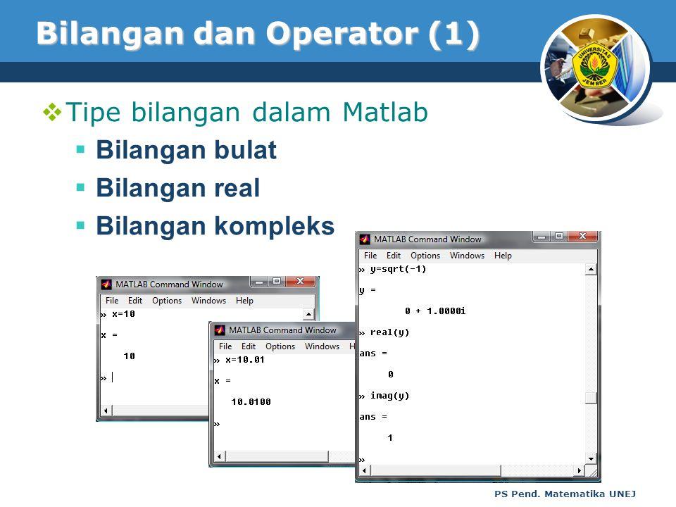 Bilangan dan Operator (1)