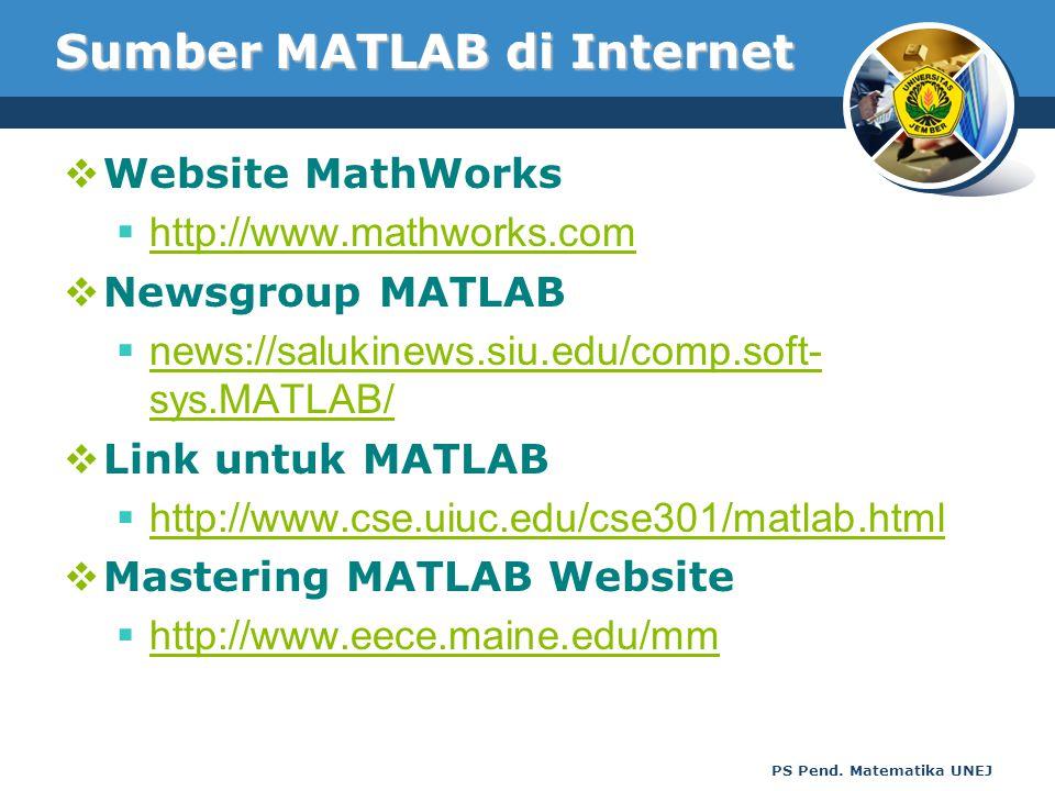 Sumber MATLAB di Internet