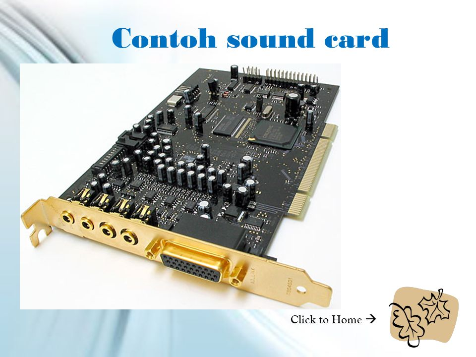 Contoh sound card Click to Home 
