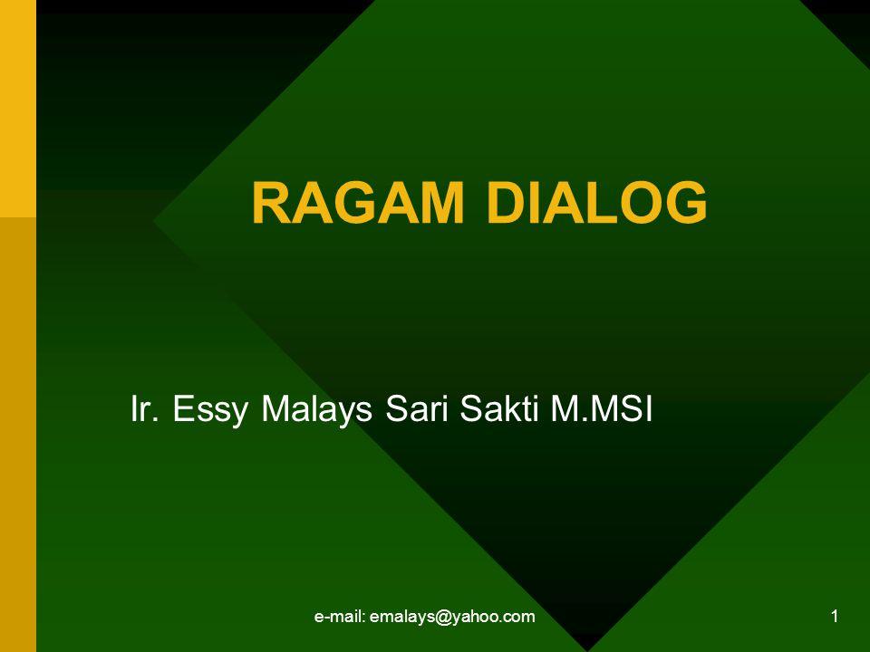 Ir. Essy Malays Sari Sakti M.MSI