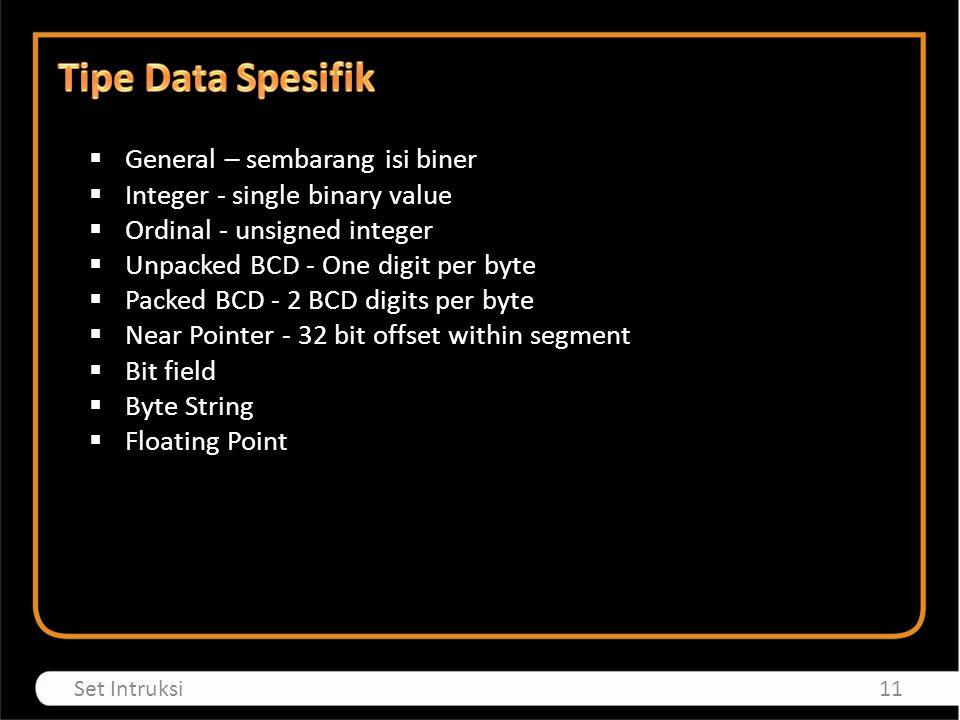 Tipe Data Spesifik General – sembarang isi biner