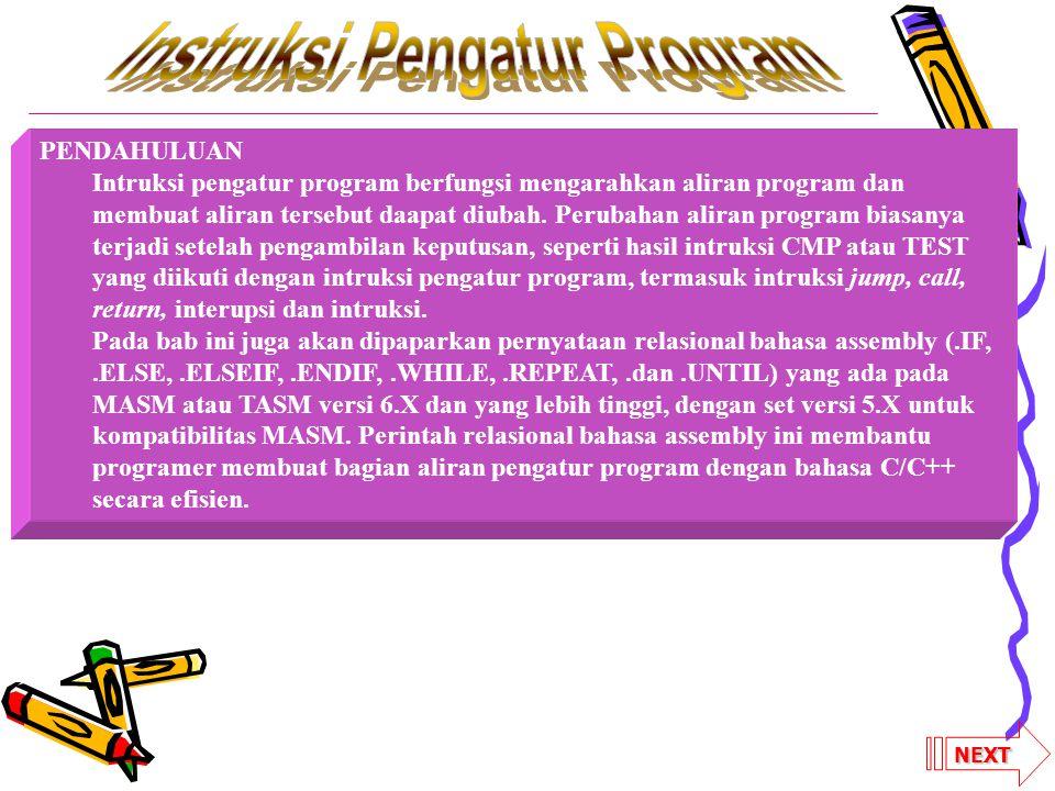 Instruksi Pengatur Program