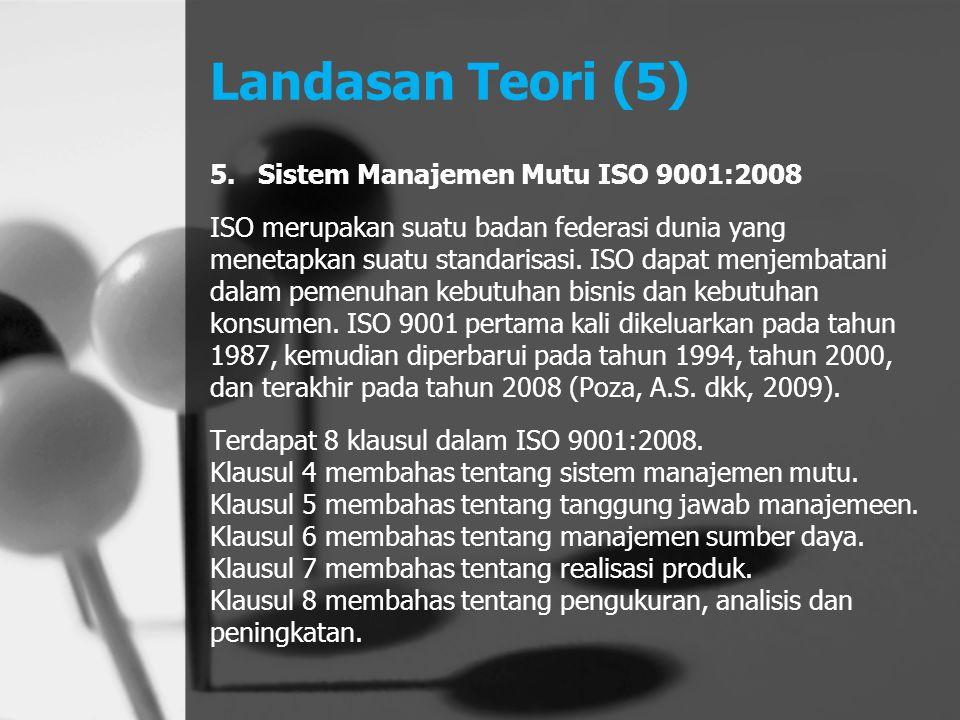 Landasan Teori (5) Sistem Manajemen Mutu ISO 9001:2008