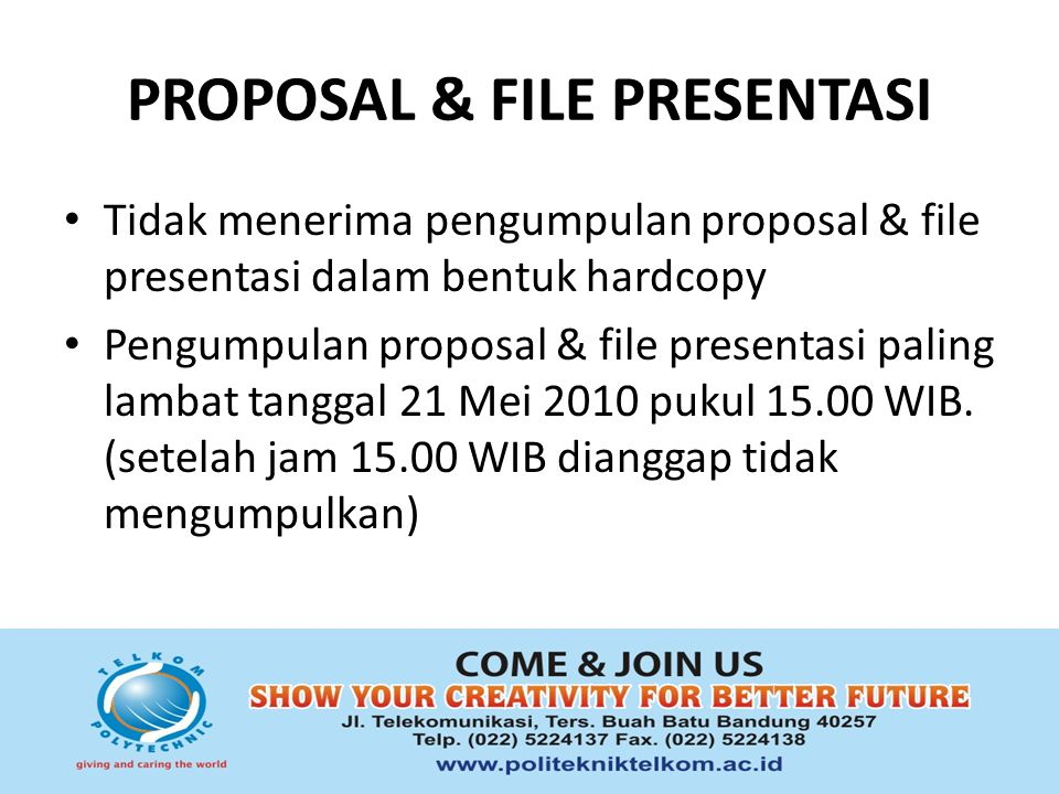 PROPOSAL & FILE PRESENTASI