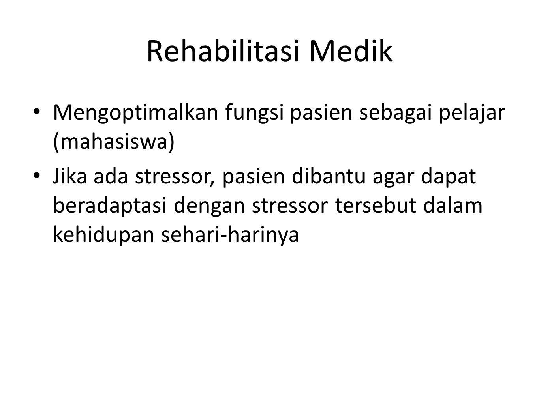 Rehabilitasi Medik Mengoptimalkan fungsi pasien sebagai pelajar (mahasiswa)