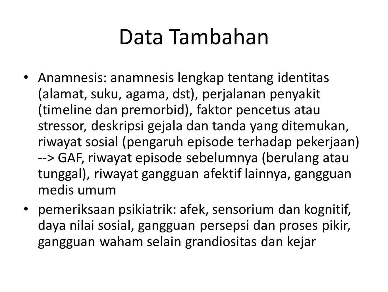 Data Tambahan
