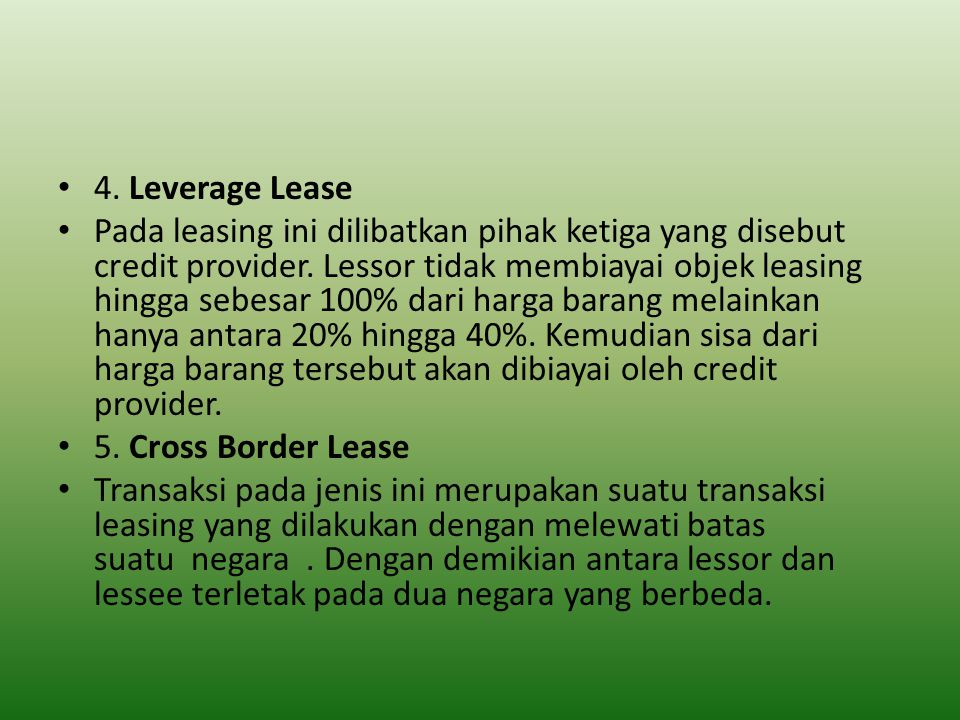 4. Leverage Lease