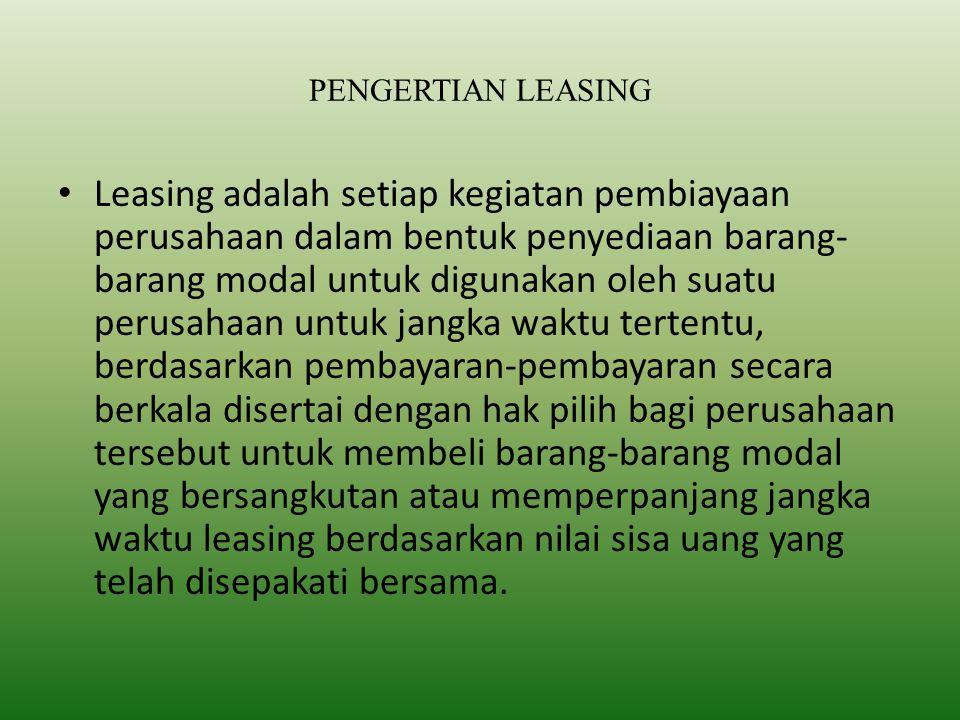 PENGERTIAN LEASING