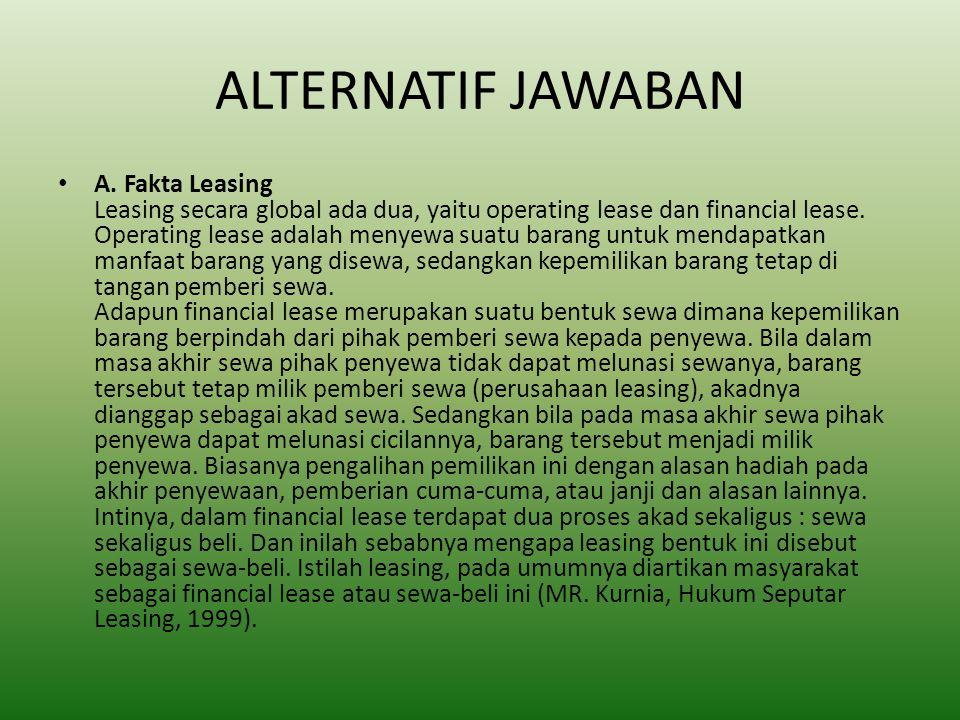 ALTERNATIF JAWABAN