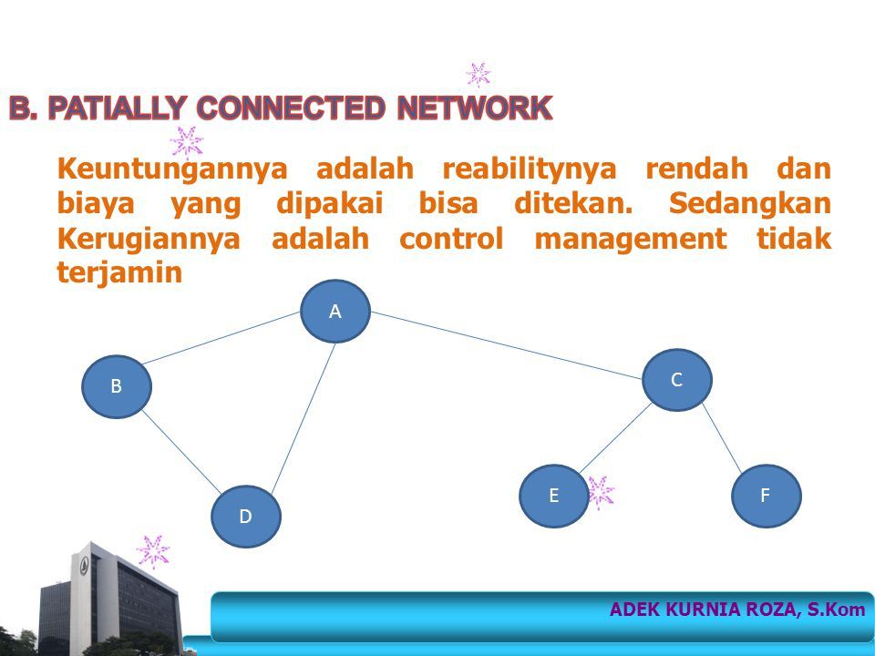 B. PATIALLY CONNECTED NETWORK