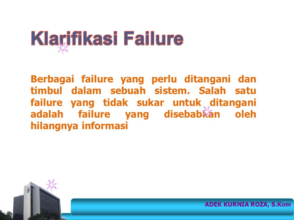 Klarifikasi Failure