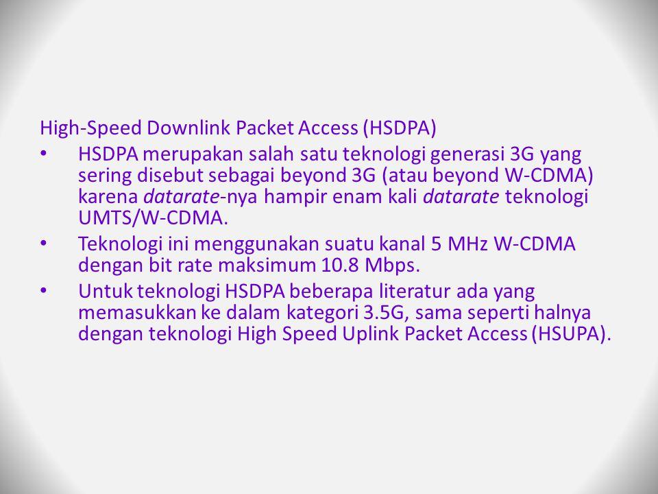 High-Speed Downlink Packet Access (HSDPA)