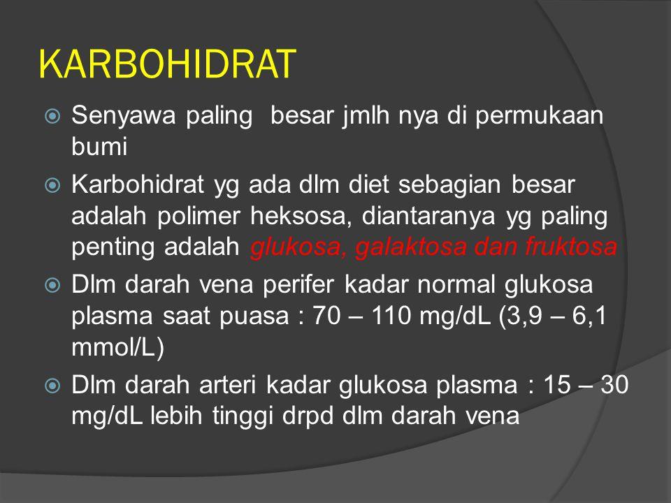 KARBOHIDRAT Senyawa paling besar jmlh nya di permukaan bumi