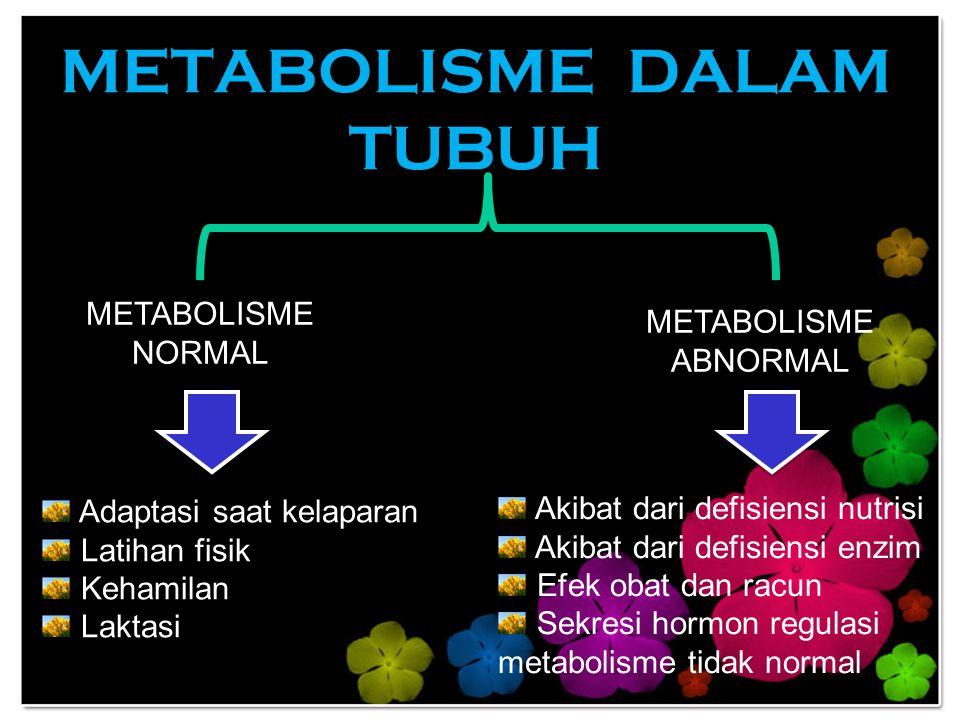 METABOLISME DALAM TUBUH