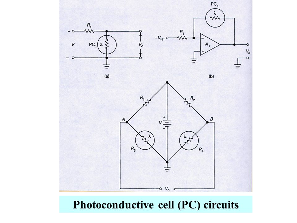 Photoconductive cell (PC) circuits