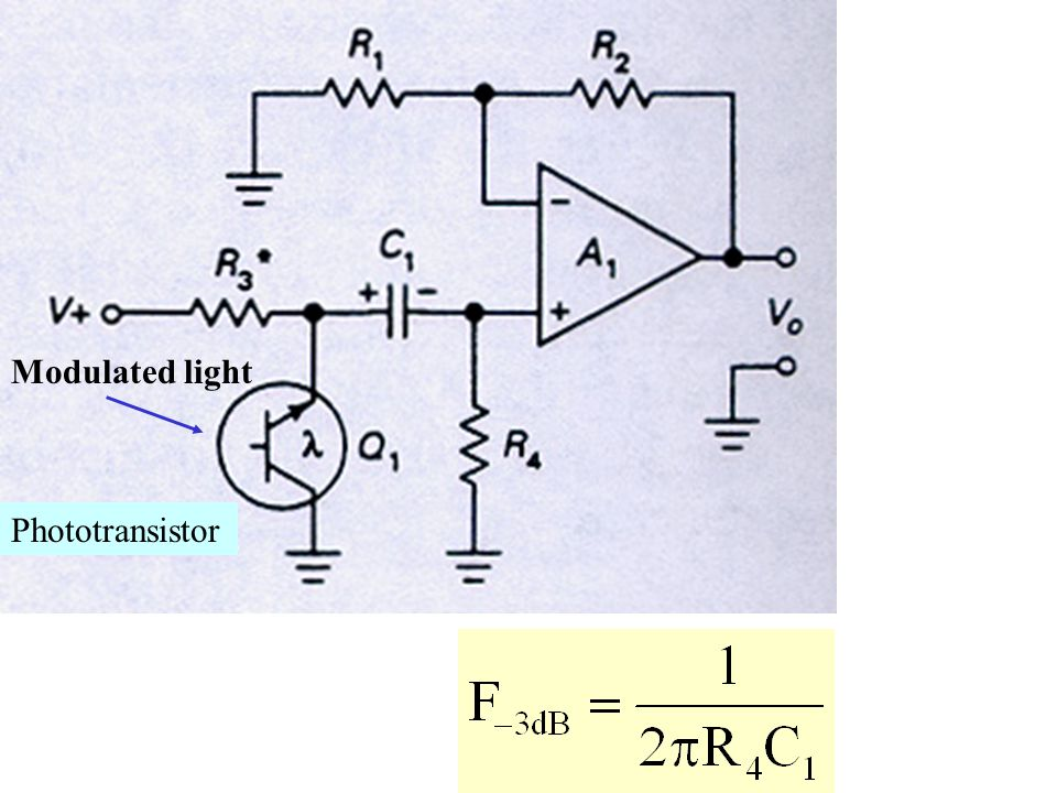 Phototransistor Modulated light