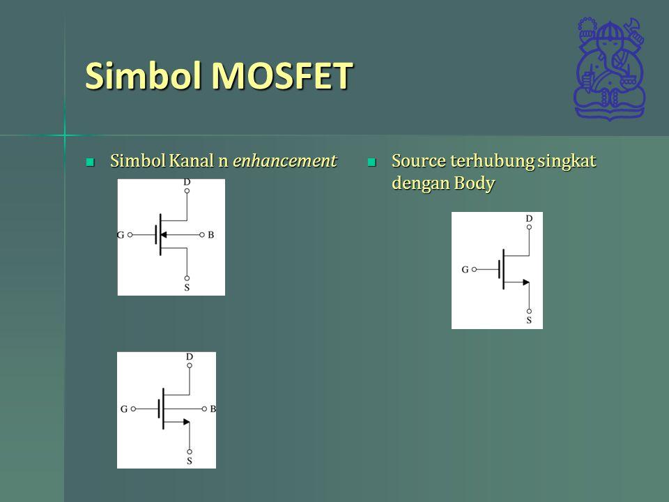 Simbol MOSFET Simbol Kanal n enhancement