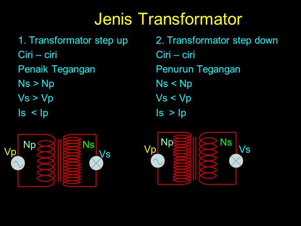Jenis Transformator 1. Transformator step up Ciri – ciri