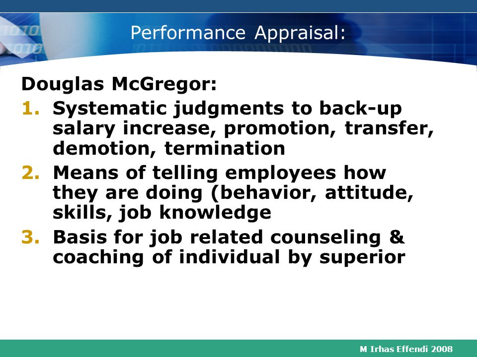 Performance Appraisal: