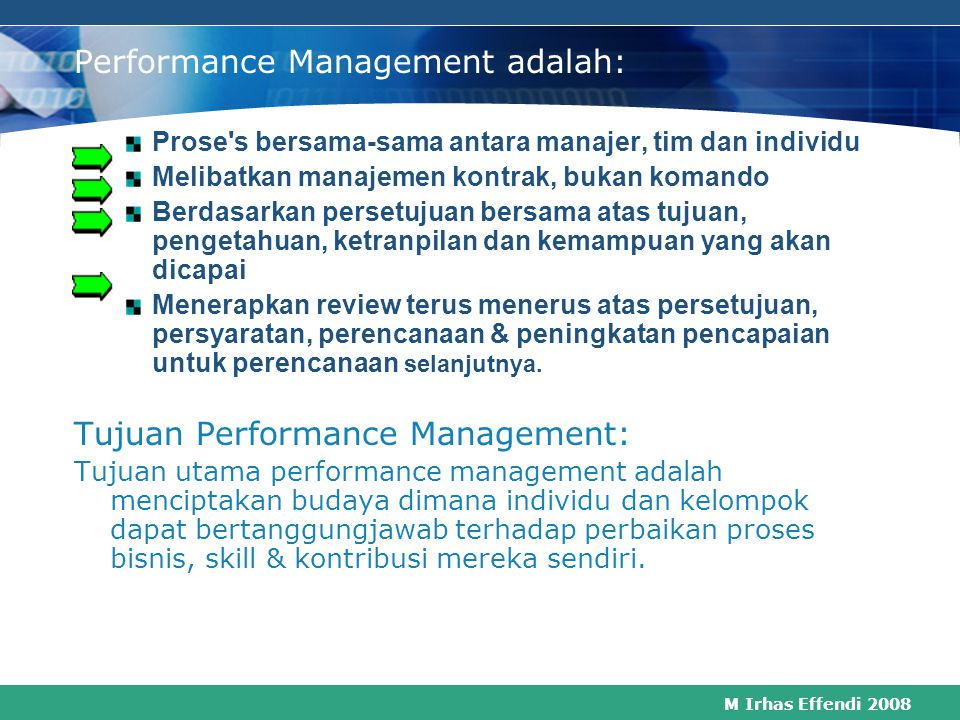 Performance Management adalah: