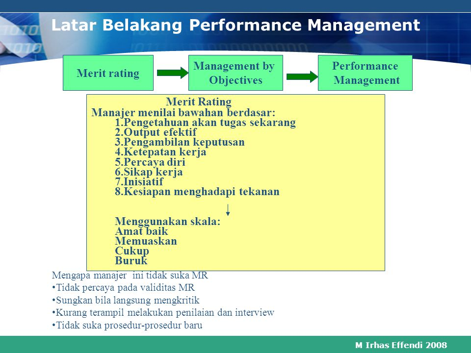Latar Belakang Performance Management