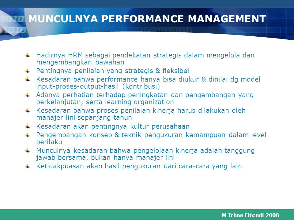 MUNCULNYA PERFORMANCE MANAGEMENT