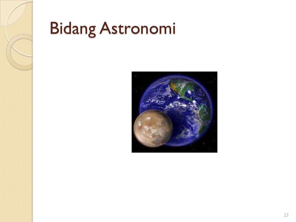 Bidang Astronomi