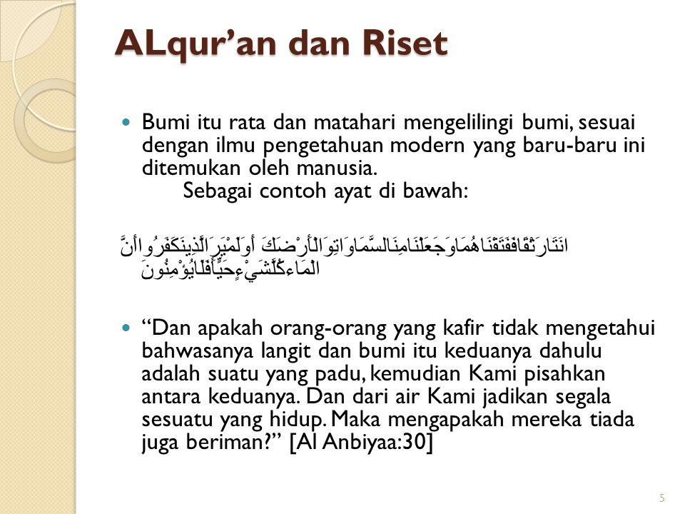 ALqur'an dan Riset
