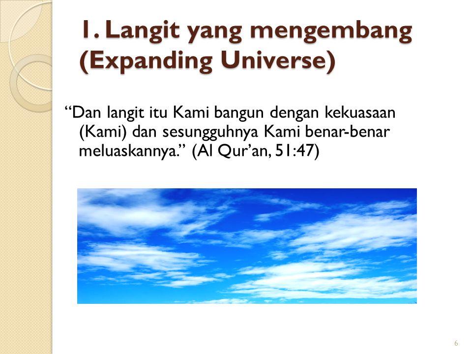 1. Langit yang mengembang (Expanding Universe)
