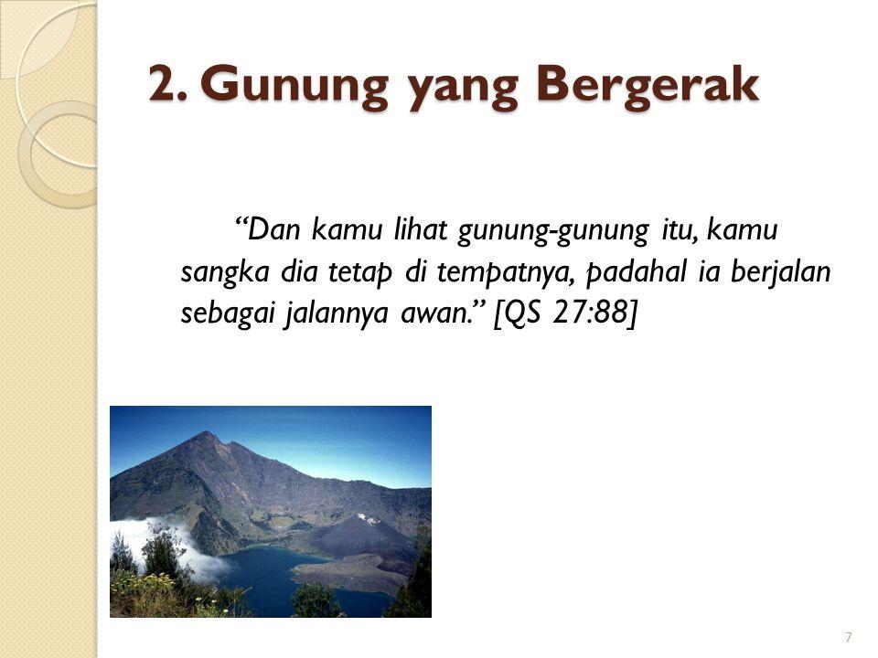 2. Gunung yang Bergerak