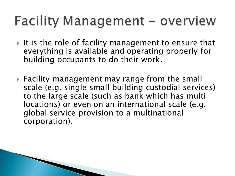 Facility Management - overview