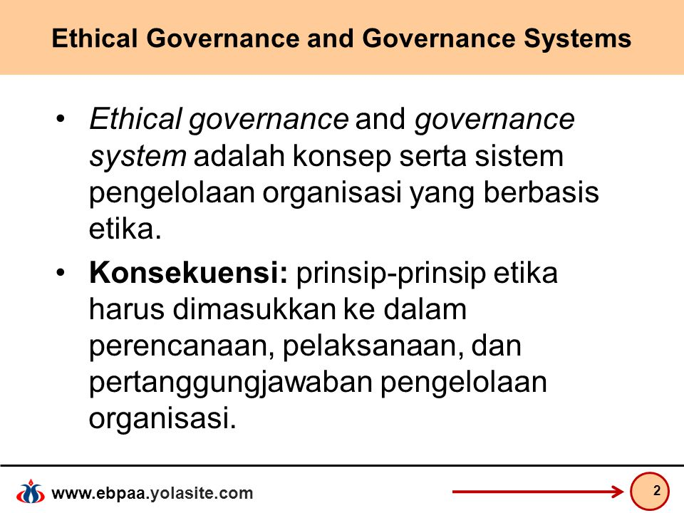 Ethical Governance and Governance Systems