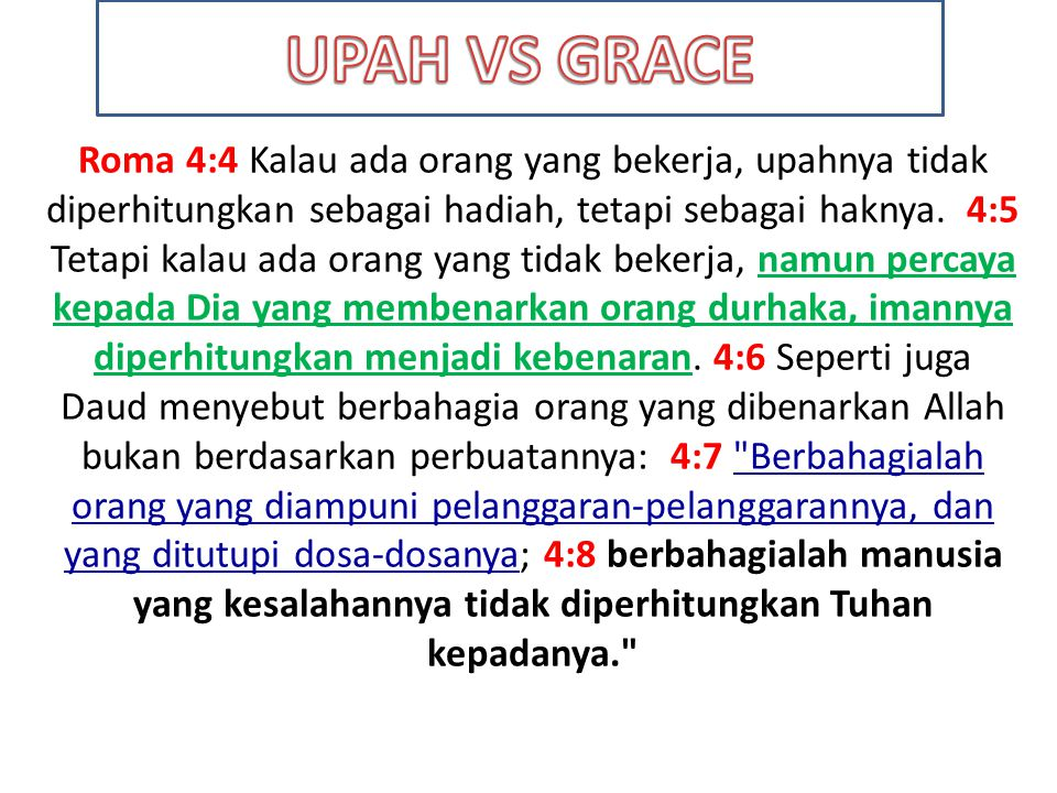 UPAH VS GRACE