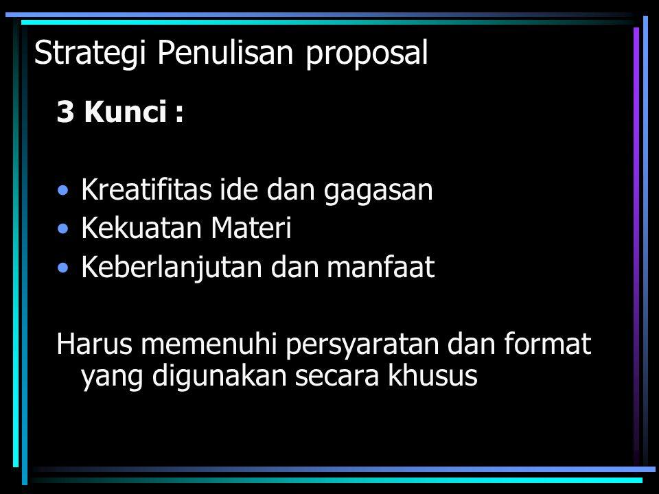 Strategi Penulisan proposal