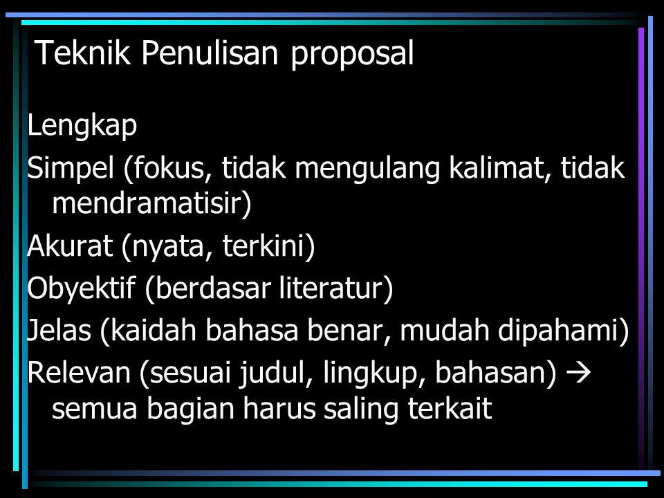 Teknik Penulisan proposal
