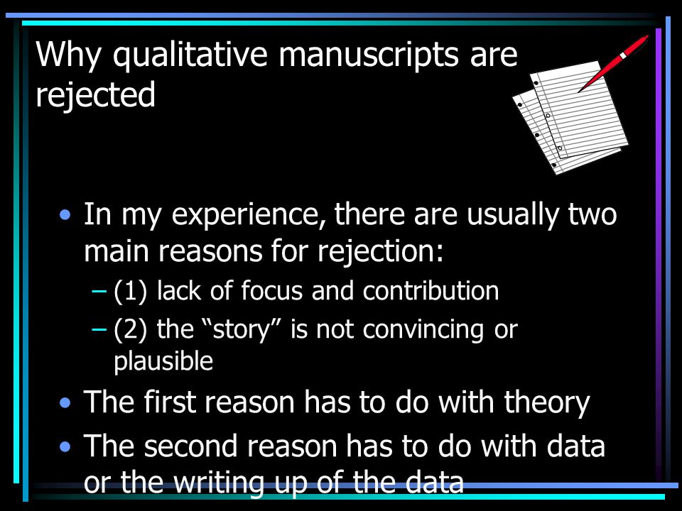 Why qualitative manuscripts are rejected