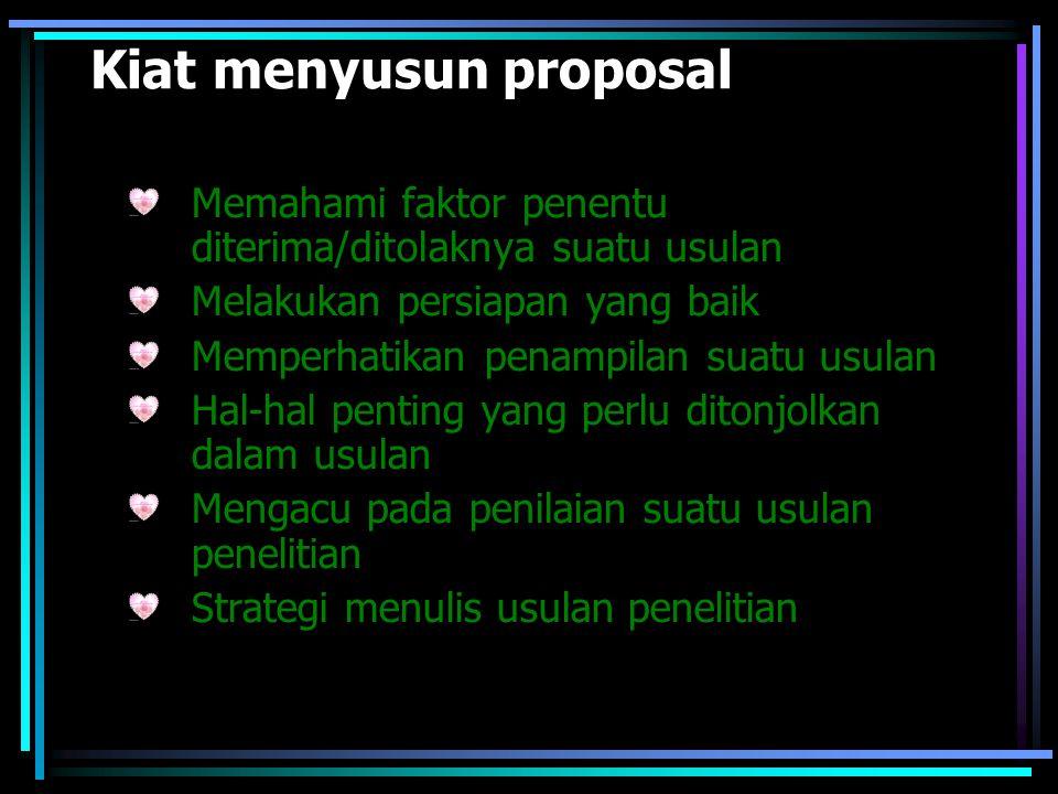 Kiat menyusun proposal