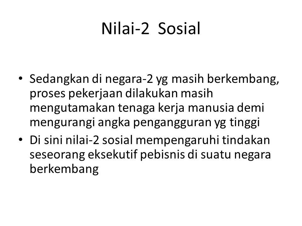 Nilai-2 Sosial