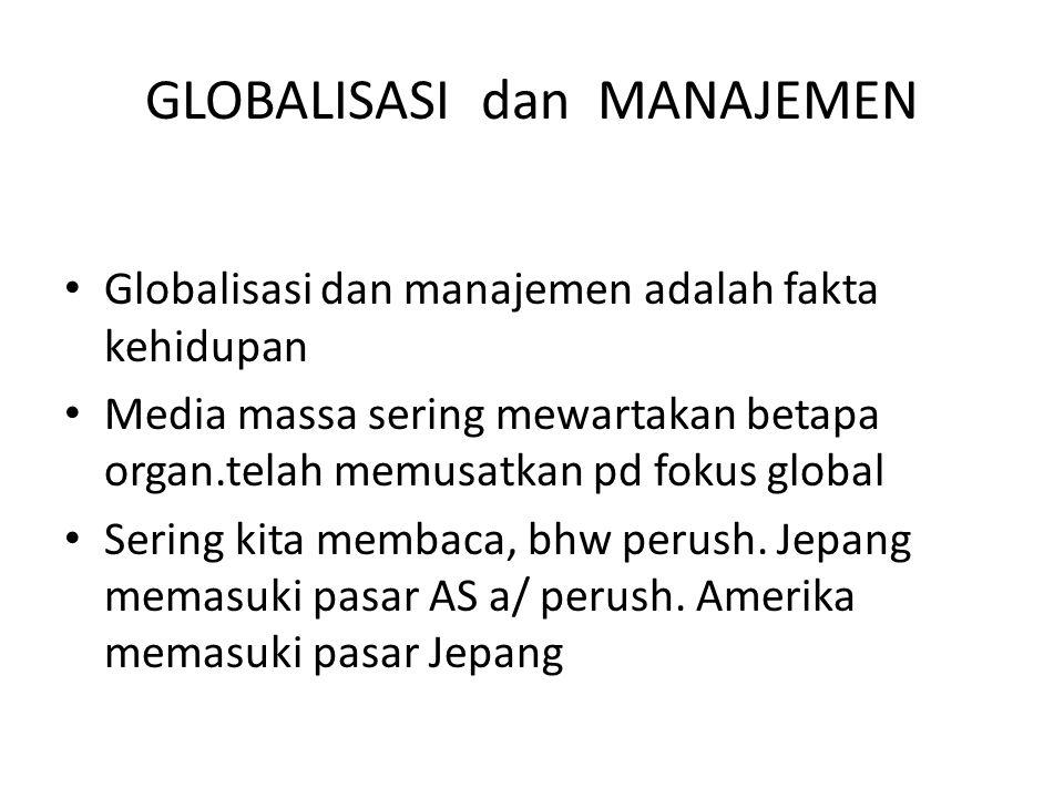 GLOBALISASI dan MANAJEMEN