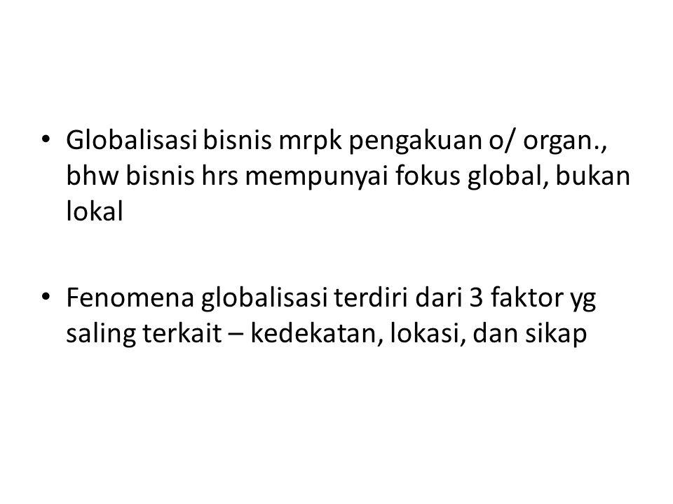 Globalisasi bisnis mrpk pengakuan o/ organ