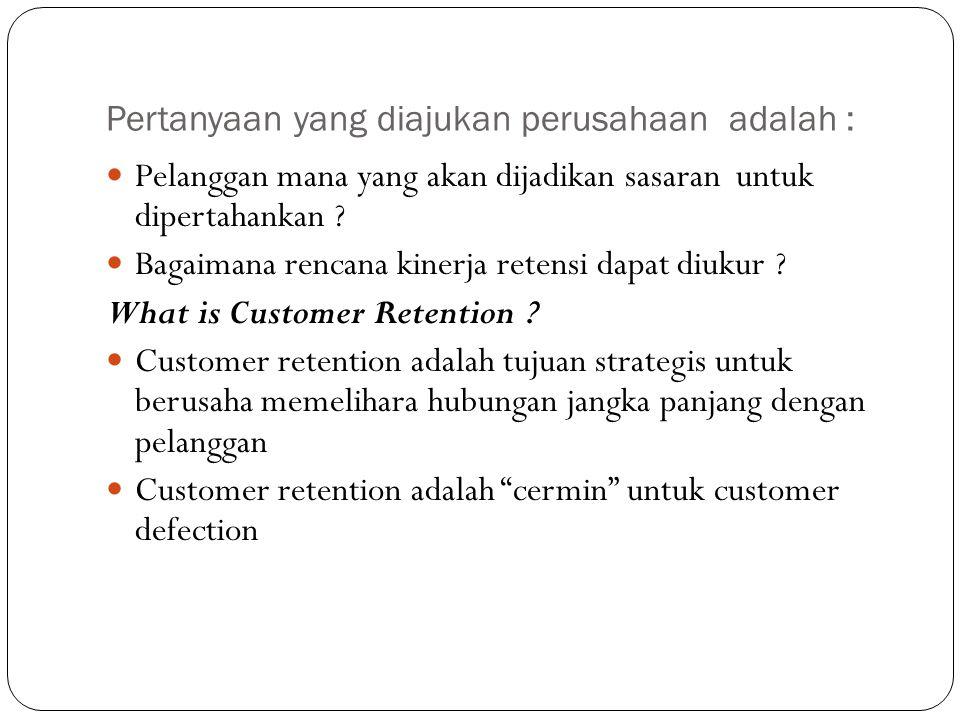 Pertanyaan yang diajukan perusahaan adalah :