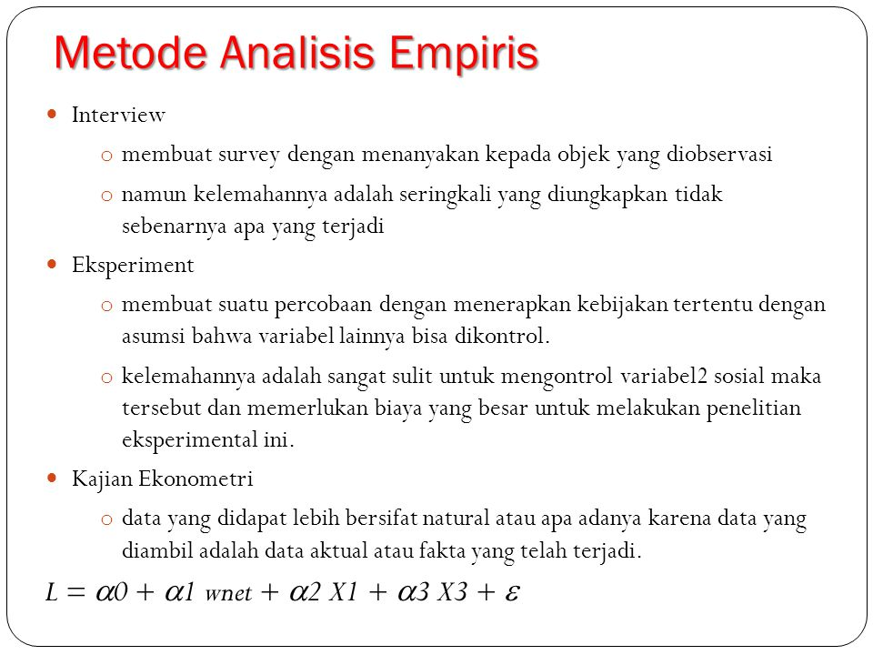 Metode Analisis Empiris