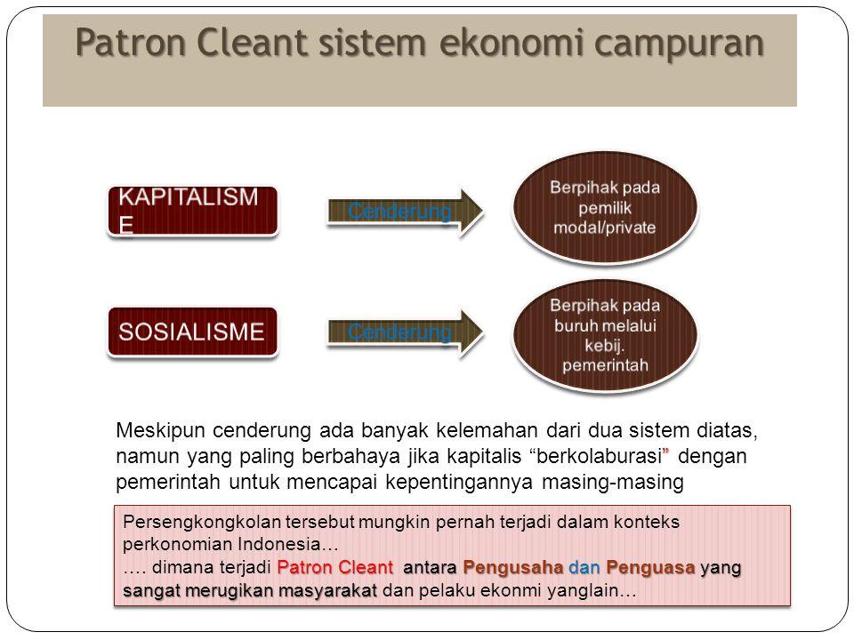 Patron Cleant sistem ekonomi campuran