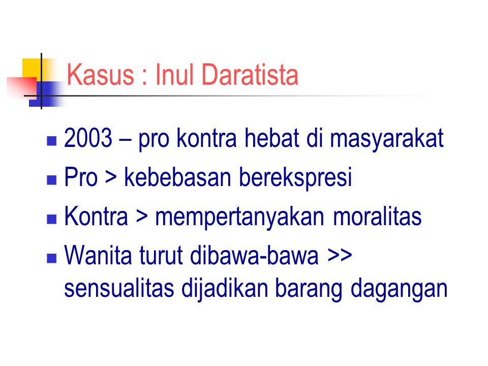 Kasus : Inul Daratista 2003 – pro kontra hebat di masyarakat