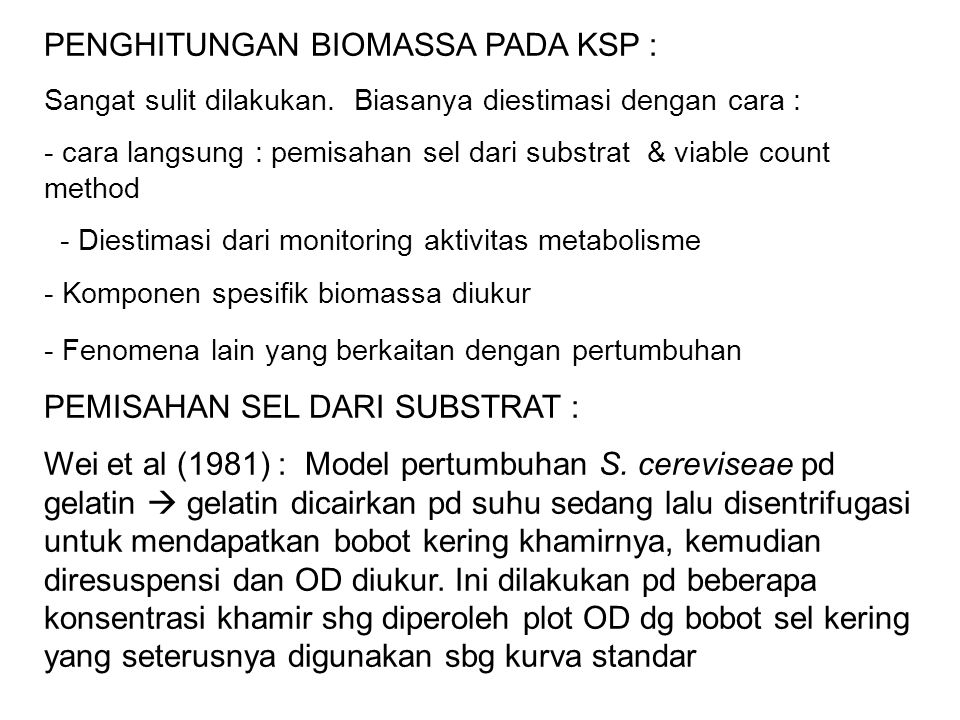 PENGHITUNGAN BIOMASSA PADA KSP :