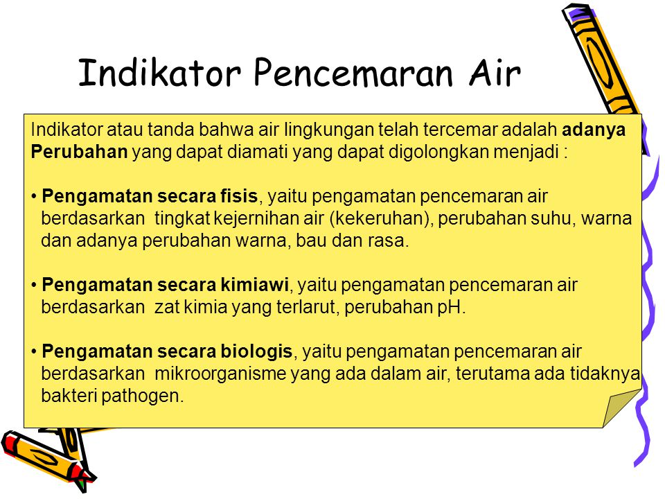 Indikator Pencemaran Air