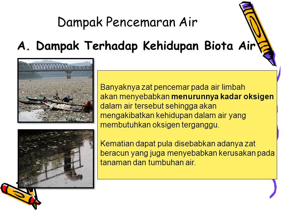 Dampak Pencemaran Air Dampak Terhadap Kehidupan Biota Air