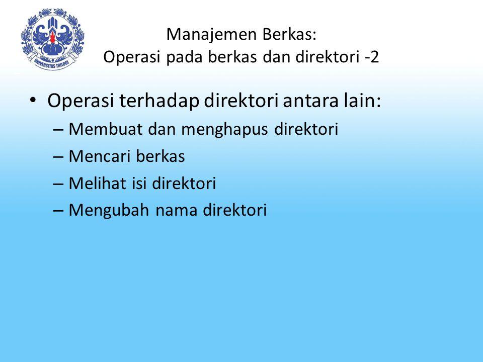 Manajemen Berkas: Operasi pada berkas dan direktori -2