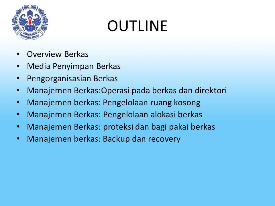 OUTLINE Overview Berkas Media Penyimpan Berkas Pengorganisasian Berkas