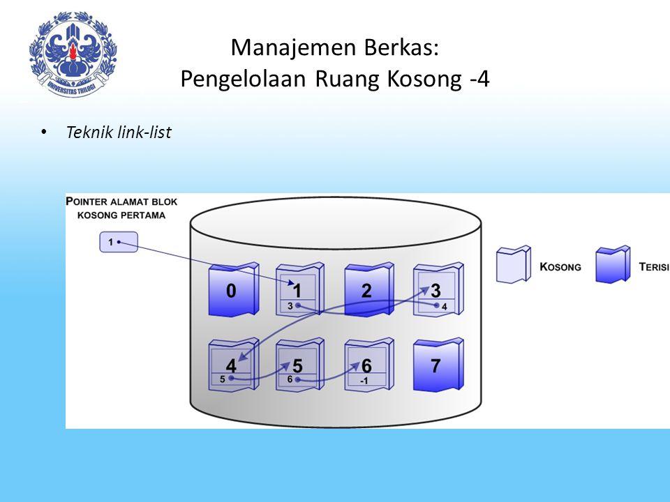 Manajemen Berkas: Pengelolaan Ruang Kosong -4